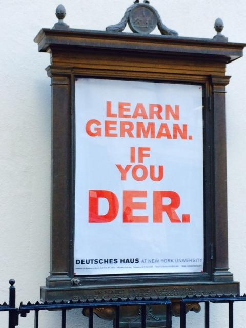 Learn German if you Der